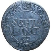 1 Schilling - Friedrich Wilhelm – reverse