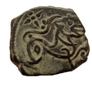 "Jital - ""Bronze""- King Bhima son of Kamaluka - Kabul Shahi - 961-964 AD – reverse"