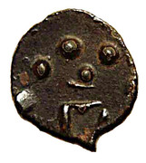 Potin unit - Kadambas of Banavasi - Krishnavarma II – obverse