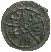 Potin unit - Kadambas of Banavasi - Krishnavarman II – obverse