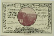 75 Pfennig (Leuchtenburg - Issue 2A: Rudelsburg) – reverse