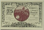 75 Pfennig (Leuchtenburg - Issue 2B: Burg Saaleck) – reverse