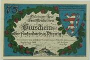 75 Pfennig (Leuchtenburg - Issue 2D: Wartburg) – obverse