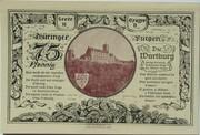 75 Pfennig (Leuchtenburg - Issue 2D: Wartburg) – reverse