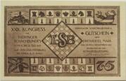 75 Pfennig (Schachklub Kahla - Issue 1) – obverse