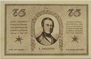 75 Pfennig (Schachklub Kahla - Issue 1) – reverse