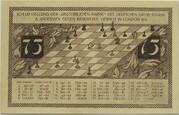 75 Pfennig (Schachklub Kahla - Issue 2) – reverse