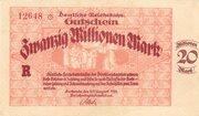 20,000,000 Mark (Reichsbahndirektion) – obverse