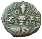 AE  Stater - Didda/Kshemagupta - Joint Issue - Utpala Dynasty – obverse