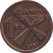 1 Franc -  reverse