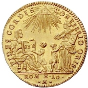 1 Ducat (Bicentennial of Augsburg Confession) – obverse