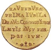 1 Ducat (Bicentennial of Augsburg Confession) – reverse