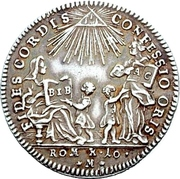 1 Ducat (Bicentennial of Augsburg Confession; Silver pattern strike) – obverse
