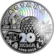 5000 Tenge (20 years of Astana) – reverse