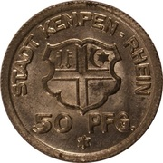 50 Pfennig - Kempen am Rhein -  obverse