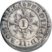 1 Kreuzer - Johann Eucharius von Wolffurt – reverse