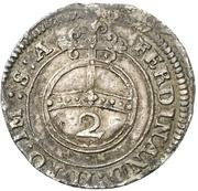 2 Kreuzer - Johann Eucharius von Wolffurth – reverse
