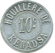 10 Centimes (Sociétés des Houillères du Sud Oranais) – obverse