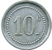 10 Centimes (Sociétés des Houillères du Sud Oranais) – reverse