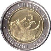 5 Shillings (Rhino) – reverse