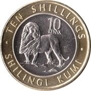 10 Shillings (Lion) – reverse