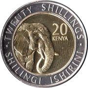 20 Shillings (Elephant) – reverse