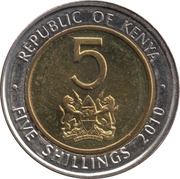 5 Shillings (Magnetic) – obverse