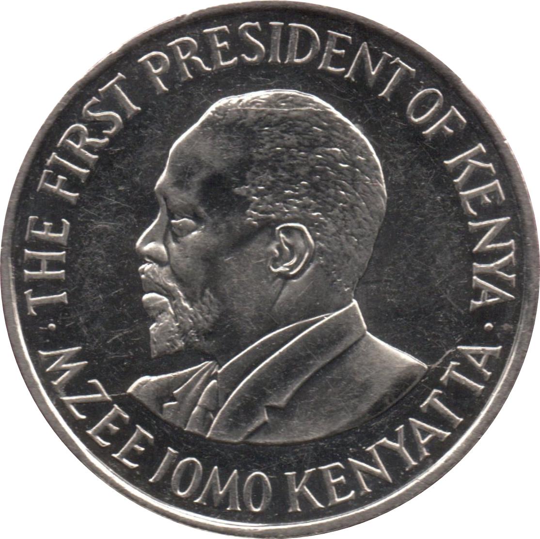 KENYA 1 SHILLINGS 2010 UNC FIRST PRESIDENT BUST OF MZEE JOMO KENYATTA LEFT,NATIO