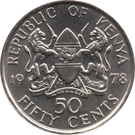 50 Cents (with legend) – obverse