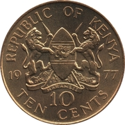 10 Cents (with legend) -  obverse