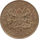 10 Cents (without legend) – obverse