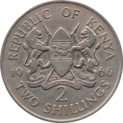 2 Shillings (Without legend) – obverse
