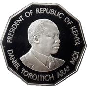500 Shillings (President Daniel Toroitich Arap Moi) – reverse