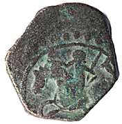 "Jital - 'Ala al-din Muhammad ""Muhammad II of Khwarezm"" - 1200-1220 AD (Horseman type - Herat Mint) – obverse"