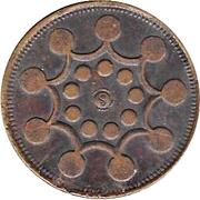 10 Cash (Questionable authenticity; Da Han coinage) – reverse