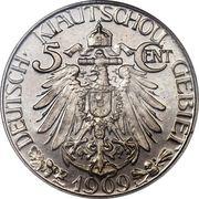 5 Cents / 5 Fen - Wilhelm II – reverse