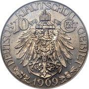 10 Cents / 1 Jiao - Wilhelm II – reverse