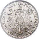 5 Cents - Wilhelm II – reverse