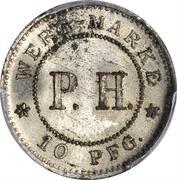 10 Pfennig (P. H.) – reverse
