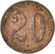 20 Pfennig (Tsingtau Leper Colony) – reverse