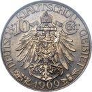 10 Cents - Wilhelm II – reverse