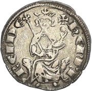 ½ Gros - Henry II (second reign) – obverse