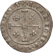 1 Gros - Henry II and Amaury – obverse