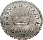 5 Soldi - Napoleon I – reverse