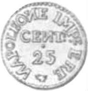 25 Centesimi - Palma nova - Siege coinage – obverse