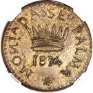50 Centesimi (Palma Nova - Siege coinage) – reverse