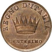 1 Centesimo - Napoleon I – reverse