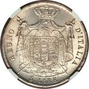5 Lire - Napoleon I – reverse