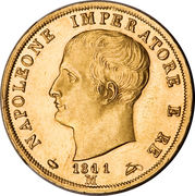 40 Lire - Napoleon I – obverse