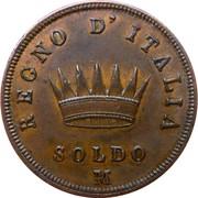 1 Soldo - Napoleon I – reverse